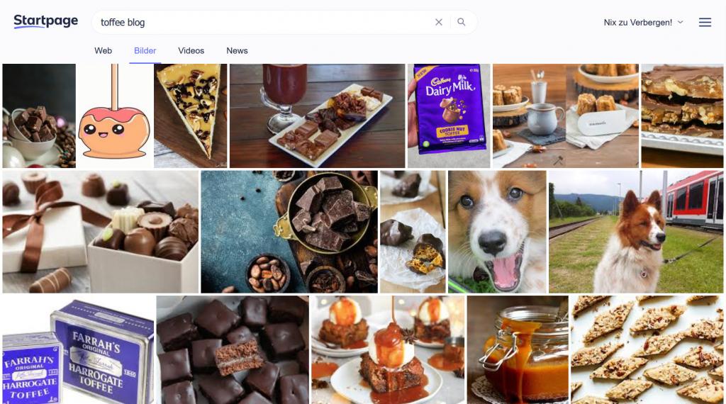 Suchergebnisse Toffee und Blog im Internet