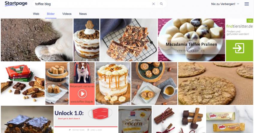 Suchergebnisse für Toffee udn Blog im Internet